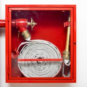 brandslang in brandhaspel